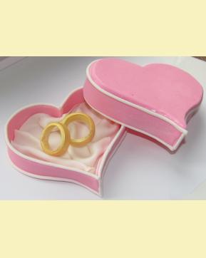 Свадебные кольца на торт своими руками 96