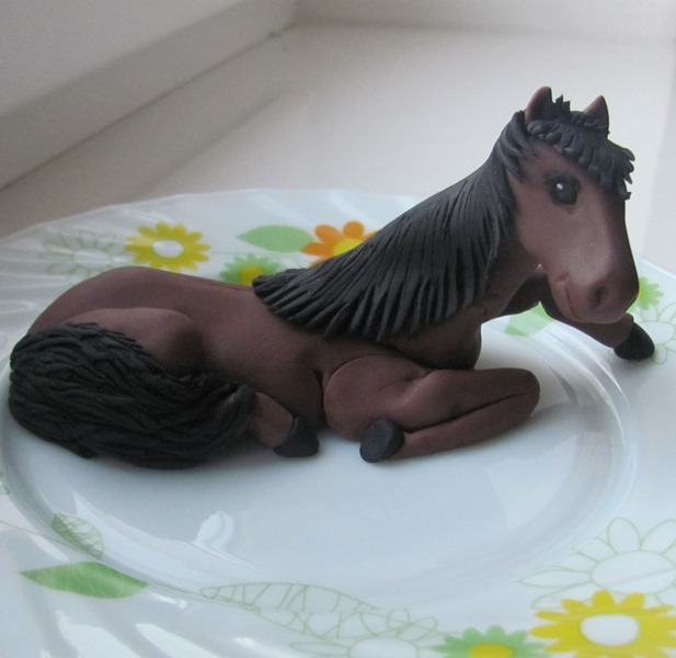 Лошадь из мастики пошаговое