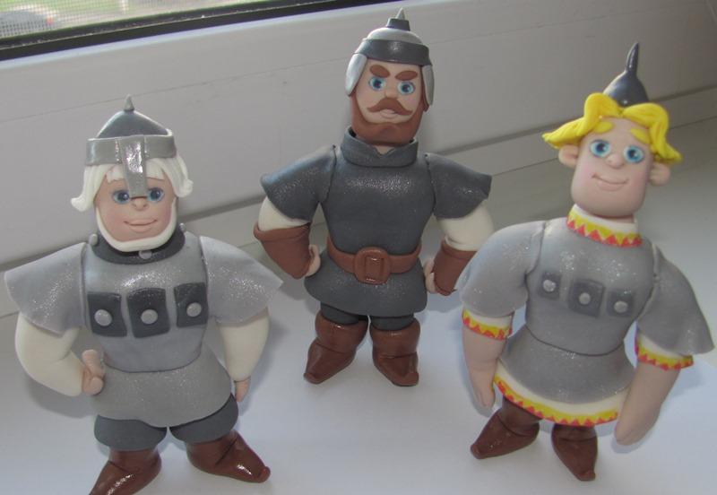 Поделки из пластилина три богатыря