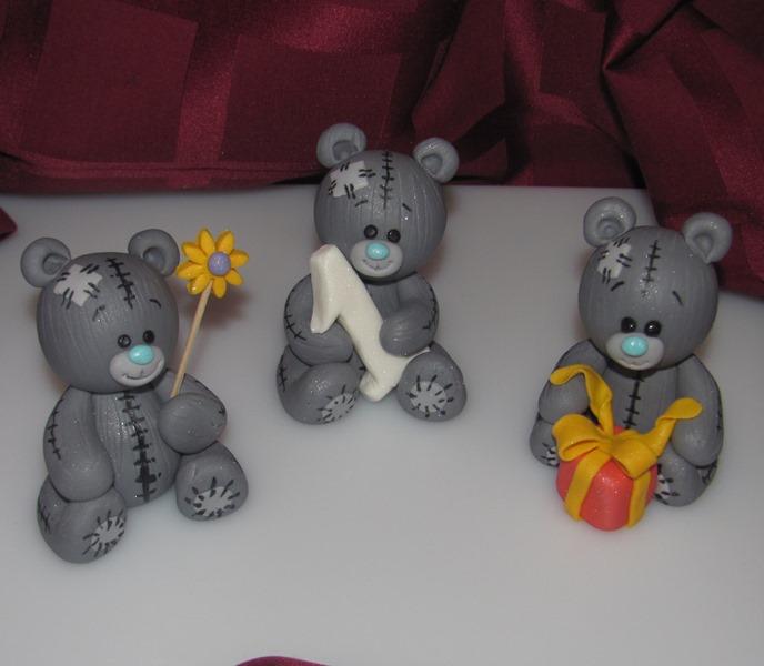 Как сделать мишку из мастики мастер класс