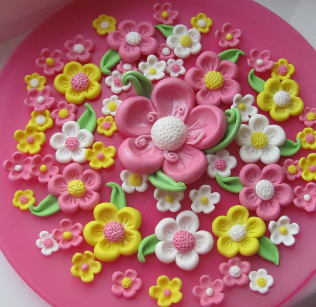 Цветочки на торт своими руками 86