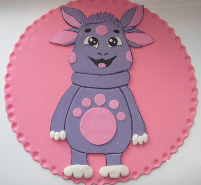 Как сделать лунтика на торт 201