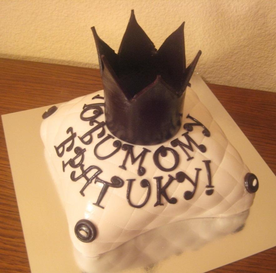Шоколадная корона для тортов