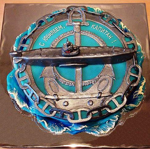 торт для моряка фото