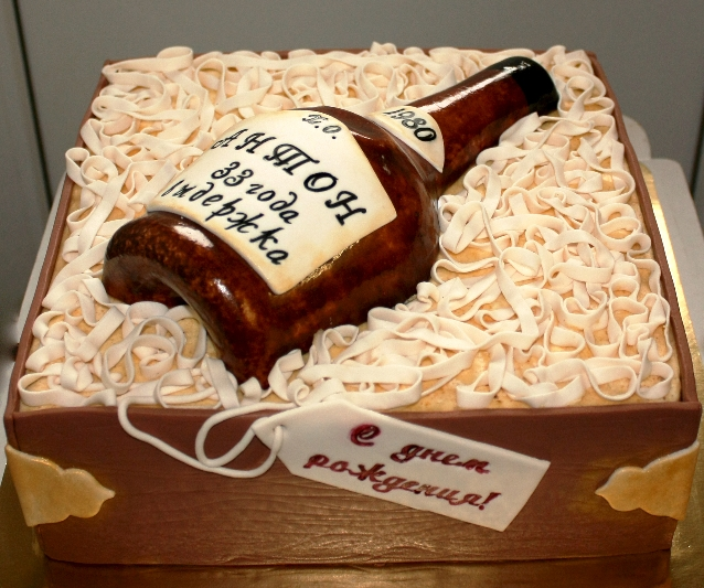 торт с бутылкой фото