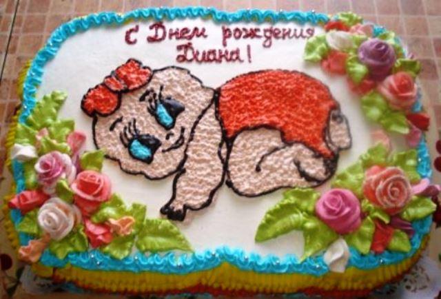 Детские тортики с кремом фото