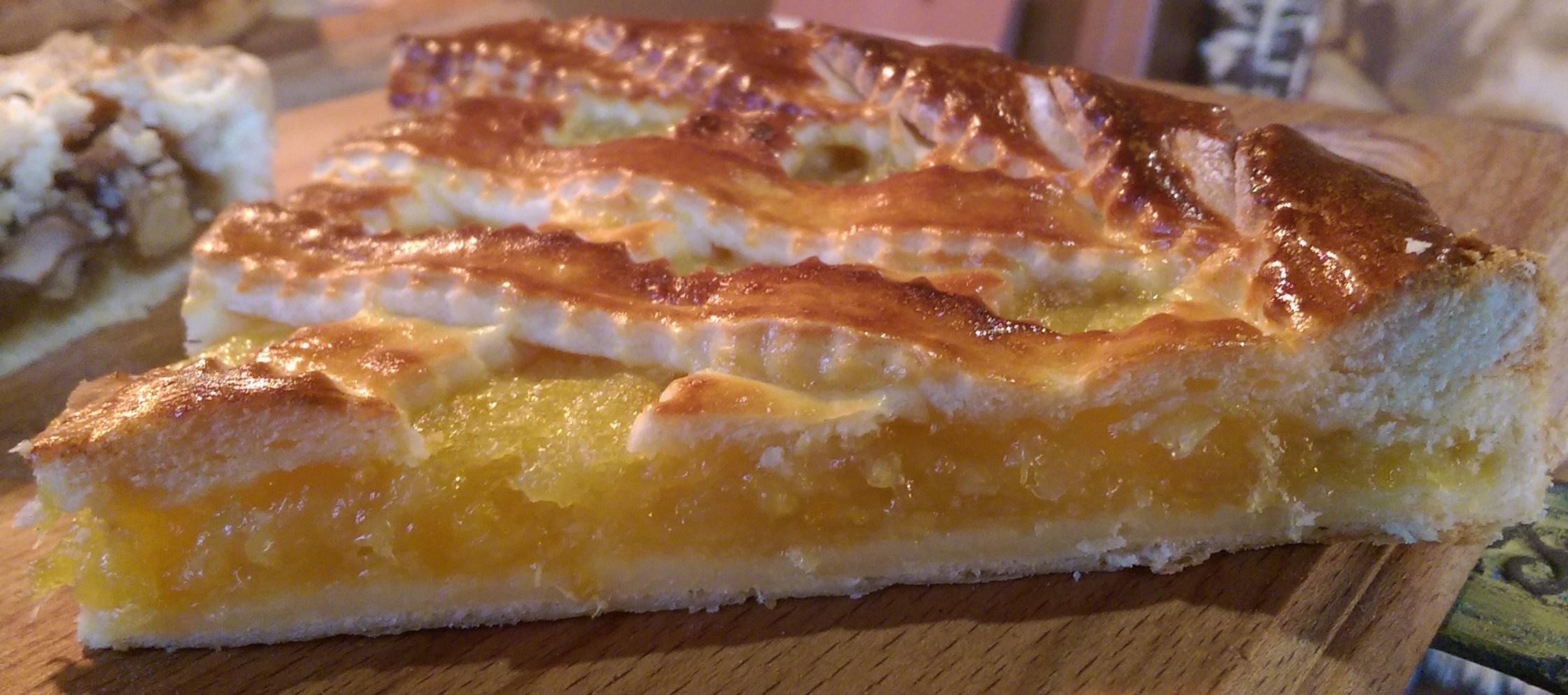 Пирог с лимоном из слоеного теста рецепт